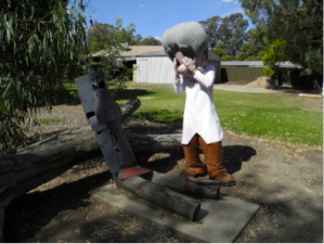 The spot that Ned was captured at in  Glenrowan